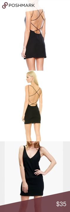 silk strappy dress 93% silk black 'Tyra' strappy mini dress from Emerson Thorpe • tag says Small, fits like an XS in my opinion • sold for $344 on Shopbop • tags: Reformation, Realisation Par Dresses Mini
