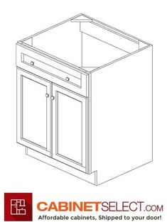 Buy Greystone Shaker Kitchen Cabinets - RTA Cabinets by CabinetSelect Kitchen Cabinets On A Budget, White Shaker Kitchen Cabinets, Kitchen Cabinet Colors, Painting Kitchen Cabinets, Mdf Cabinet Doors, Mdf Cabinets, Types Of Cabinets, Plywood Shelves, Sink