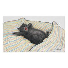 Kramer The Cat Yawning Poster - thanksgiving day family holiday decor design idea