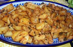 Batata harra ,pomme de terre épicées, Recette libanaise