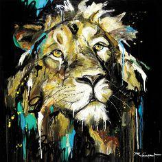 Lion Painting, Painting & Drawing, Watercolor Paintings, Animal Paintings, Animal Drawings, Portraits Pop Art, Tableau Pop Art, Afrique Art, Lion Art