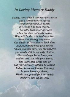 I love this! I do miss my daddy so much!