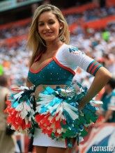Miami Dolphins Cheerleader has anyone notice I'm crazy about the Miami dolphins and Baltimore ravens?????