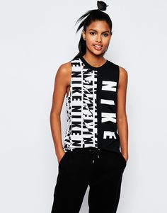 Nike Muscle Tank Vest With Text Logo