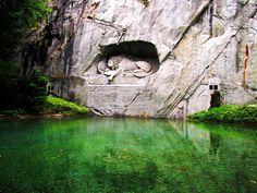 (by SanjayWatwani) lion monument in Lucerne, Switzerland