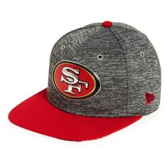 New Era Cap '9FIFTY Draft - San Francisco 49ers' Snapback Cap ($20) ❤ liked on Polyvore featuring men's fashion, men's accessories, men's hats, medium grey, mens snapback hats, mens caps and hats, mens snapbacks and mens caps