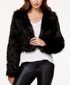 Material Girl Juniors' Faux-Fur Bolero Jacket, Only at Macy's