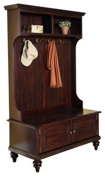 Home Styles Bermuda Hall Tree Stand in Espresso Finish transitional-hall-trees. $379