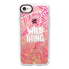 Wild Thing - Pink Palette on Transparent - iPhone 7 Case And Cover ($40) ❤ liked on Polyvore featuring accessories, tech accessories, iphone case, clear iphone case, apple iphone case, iphone cover case, transparent iphone case and iphone cases