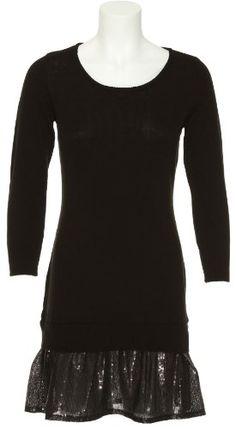 ROMEO  JULIET COUTURE Sweater Dress W/ Sequin Ruffle [RJ22268] $34.99