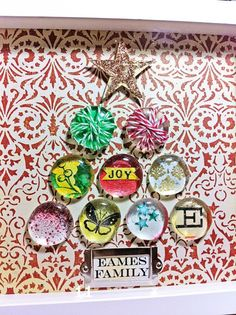 #Handmade #Holiday #Shadowbox #Craft Idea.  Blogged here,    http://gracehester.typepad.com/weblog/2011/11/handmade-holiday-shadowbox-gift.html    Uses @The Twinery #bakerstwine wrapped around the resin stones.
