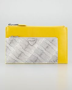 Small Multi-Zip Pouch Clutch, Yellow by Marc Jacobs at Neiman Marcus. Need NOW!!!
