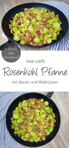 low carb Brussels sprouts pan with bacon and . - low carb Brussels sprouts pan with bacon and walnuts – slim with reason - Low Glycemic Diet, Low Carb Diet, Low Carb Recipes, Vegetarian Recipes, Healthy Recipes, Healthy Cooking, Cooking Tips, Menu Dieta Paleo, Law Carb