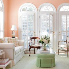 Peach is such a bright and fresh spring color that will sit wonderfully on your walls.
