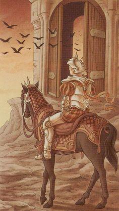 Le cavalier de bâtons - Tarot des 78 portes par Antonella Platano & Pietro Alligo