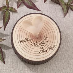 I Thee Wed-Tree Trunk Ring Holder