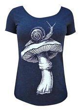 Womens Black Market Art T-shirt Shroom Scoop Neck