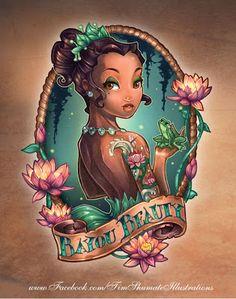 Disney Tiana Tattoo by Timothy John Shumate