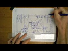 This is a demonstration of how to draw a band performing on a stage using one-point perspective. I show this demo to my grade students in class as a part. One Point Perspective, Perspective Drawing, Theatre Stage, Theater, International Film Festival, Art Drawings, Sketch, Scene, School