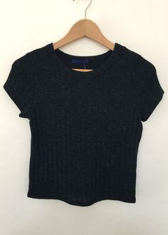 hazel knit t-crop top