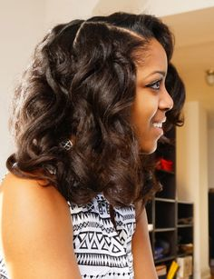 Bantu Wraps on Blowdried, Relaxed Hair Black Hairstyles Pictures, Black Hairstyles With Weave, Ethnic Hairstyles, Hair Pictures, Wig Hairstyles, Healthy Relaxed Hair, Natural Hair Styles, Long Hair Styles, Types Of Curls