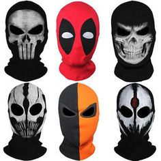 81c3a5b7e58 Black Panther Deadpool Punisher Marvel Ghost Costume Balaclava Full Face  Mask