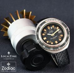 Stunning 1970's ZODIAC 'Super Sea Wolf' Ref. 1342.736 75ATU Diver ETA Cal. 2872  PROFESSIONALLY SERVICED IN-HOUSE AT THE LOCALTIME SPA