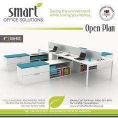 Whether you are looking for private offices or open plan workstations - Smart Office Solutions can help plan your entire office space from the layout to the delivery and install of the new office! Call us today and see what we can do to help you Office Space Planning, Used Office Furniture, Smart Office, Open Plan, Offices, Delivery, Layout, How To Plan, Home Decor