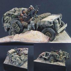 Jeep -- 1/24 scale LRDG From: History In Scale Unknown modeler  #scalemodel #plastimodelismo #miniatura #miniature #miniatur #hobby #diorama #humvee #scalemodelkit #plastickits #usinadoskits #udk #maqueta #maquette #modelismo #modelism