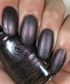 ehmkay nails: China Glaze Rebel Collection for Fall 2016: Swatches and Review. China Glaze Heroine Chic with matte top coat