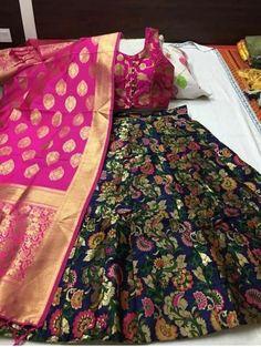 Padmavat Banarasi Brocade Lehnga With Full Fair And Ready Made Paded Blouse With Banarasi Duppta Brocade Lehnga, Banarasi Lehenga, Lengha Choli, Lehenga Choli Online, Silk Dupatta, Brocade Fabric, Anarkali, Sarees, Indian Dresses