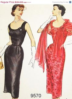 On Sale McCalls 50s Dress Pattern 9570  by ThePatternSource, $25.50