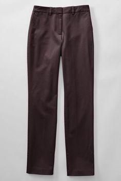 Women's Mid Rise Straight Leg Chino Pants Raisin