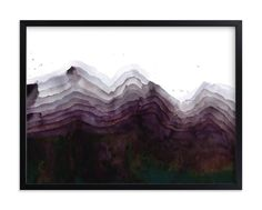 """""""The Mountain Side"""" - Art Print by Kelsey McNatt in beautiful frame options and…"""