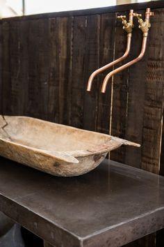 Attic Bathroom, Master Bathroom, Copper Pipe Taps, Beach Bath, Water Toys, Album Design, Sweet Home, Interior Decorating, Sink
