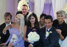 Wedding party: Courtney Stodden was the matron of honor at her mother Krista Keller's wedd...