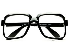 Retro Celebrity Style Square Clear Lens Glasses Black A511