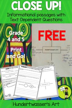 This is a great product to hook reluctant readers into reading! This Grade Four and Five resource helps students to look deeply at a text. It includes five pages of higher order thinking questions and also aligns with the Grade 4 and Grade 5 Informational Text CCSS. No-prep! Just print and handout!  Only available at Top Teaching Tasks!