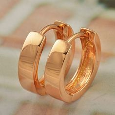 9K Rose gold-filled hoop earrings, 16mm x 4mm @ AUD$12.00 + postage or local pick up available.