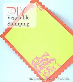 Make pretty stationary and note cards with vegetables.  Step by step tutorial on DIY Vegetable Stamping