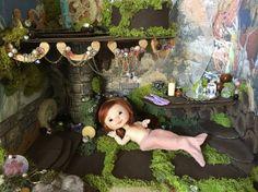 Mermaid Grotto Handmade Doll Diorama