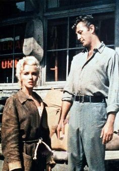 "Marilyn Monroe as Kay Weston & Robert Mitchum as Matt Calder in ""River Of No Return"" 1954"