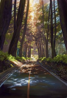 Pin de sara khallaf en art art, anime art y anime scenery Anime Landscape, Fantasy Landscape, Landscape Art, Casa Anime, Anime Scenery Wallpaper, Landscape Wallpaper, Wallpaper Wallpapers, Anime Backgrounds Wallpapers, Nature Wallpaper