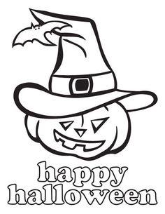 joyful and happy halloween day from jack o lantern coloring page - Cute Jack Lantern Coloring Page