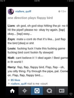 I'm definitely Louis minus the cursing One Direction Preferences, One Direction Humor, One Direction Imagines, I Love One Direction, Flappy Bird, Larry Shippers, 1d Imagines, O2l, 1d And 5sos