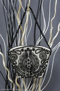 Glamour - purse: Vologda and Elets bobbin lace technique