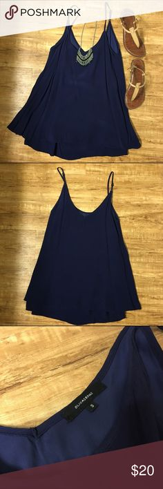 24HR SALE  OLIVACEOUS Navy Boutique Dress SZ S It absolutely kills me that this gorgeous shift dress doesn't fit me quite right. Size small, navy, layered shift dress is fantastic for the summer. Comfy, flowy, and versatile. Originally bought for $70 and only worn ONCE ✨ Make an offer  Olivaceous Dresses Mini