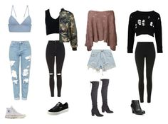 """""""Madison Beer Inspired Outfits"""" by samsus ❤ liked on Polyvore featuring T By Alexander Wang, Topshop, Converse, Sans Souci, Puma, Chicnova Fashion, Boohoo, Fergalicious, Inspired and madisonbeer"""