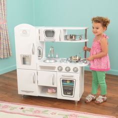 The Best Playhouse Appliances-Make playtime magical with this amazingly detailed retro stove and oven kitchenette. Holiday Gift Giving Pinboard by Asher Socrates. #holiday #magical #gift #christmas #playhouse #home #decor #son #daughter #mommy #santa #kitchenette #style #decor