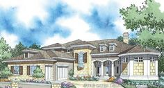"""Sater Design Collection's """"Argentellas"""" home plan from our European House Plan Collection."""